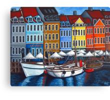 Colours of Nyhavn  Canvas Print