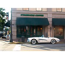 1954 Corvette Coffee Stop Photographic Print