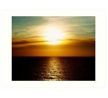 Sunset in Miami Art Print