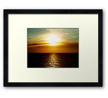 Sunset in Miami Framed Print