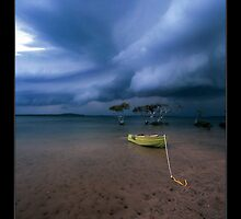 safe anchorage II - Inkskip Point Qld. by Tony Middleton