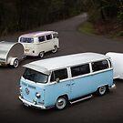 Twin Kombis with Teardrop Caravans by HoskingInd