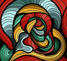 Abstract Art Curves by Makanahele