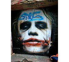 Joker Grafitti in Melbourne, Australia Photographic Print