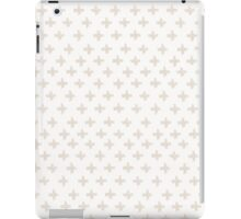Swiss Cross in Taupe and Cream iPad Case/Skin