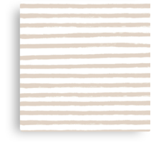 French Tan / Taupe Painted Stripe Pattern Canvas Print
