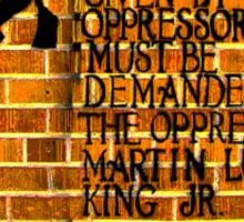 Martin Luther King, Jr. Day  Sticker