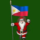 Santa Claus With Flag Of The Philippines by Mythos57