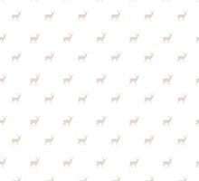 Taupe Stag Deer Animal Pattern by phantomprint