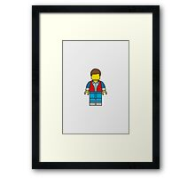Marty McFly Lego Man Framed Print