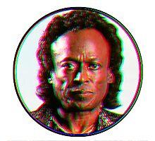 Miles Davis in a funky circuar shape Photographic Print