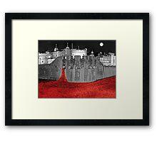 Poppies By Moonlight. Framed Print
