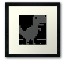 Dinosaur - Unable to Connect to the Internet Framed Print