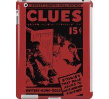 Street & Smith's Clues Detective Magazine ad iPad Case/Skin