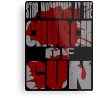 Church of Gun  Metal Print