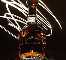 Jack Daniels Bottle in lights by hulldude30