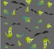 ghosts and bats by viconiamcaliens