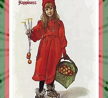 Wishing You Health Wealth and Happiness Greeting Card by taiche
