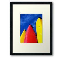 Primary Colours Framed Print