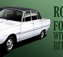 Rover P6 Illustrated Mug Wrap by RJWautographics