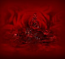 Red love drop by Christine Dyrnes