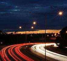 Eastern Freeway Bend by MattLew
