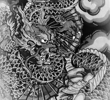 Japanese dragon and koi fish wonderland by Adam  Parsons