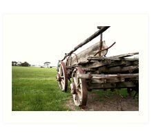 Cart Behind the Horse Art Print