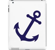 Navy Blue Anchor iPad Case/Skin