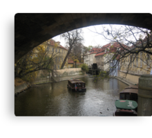 canal - prague Canvas Print
