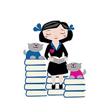Reading with Cats by Sue Cervenka