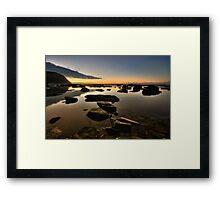 Bar Beach Rock Platform 3 Framed Print