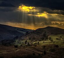 Sunset from Caerphilly Mountain by Gordon Maclaren