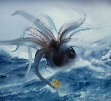 Giant Squid & Duck by Cliff Vestergaard