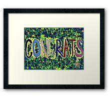 Congrats Framed Print