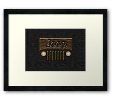 Wooden Jeep Willys ~ Black [Update] Framed Print