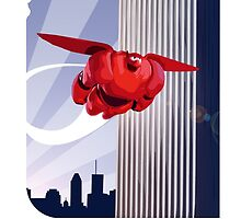 Baymax in the air! by 24julien