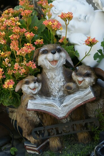 Storytime in the garden; La Mirada, CA USA, Wat Garden by leih2008
