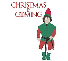 Christmas is Coming - Game of Thrones Parody (Tyrion Lannister) Photographic Print