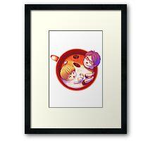 Nagisa and Rei Latte Framed Print