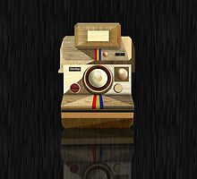 Polaroid ~ Wooden Polaroid Camera [Black] by vikaze