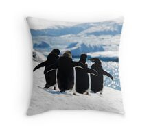 Circle of Friends Throw Pillow