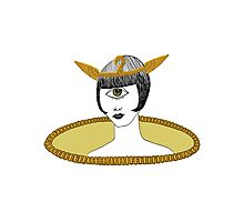 Cyclops Louise Brooks as Egyptian Valkyrie with All-Seeing Eye Photographic Print