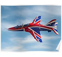 4 FTS solo display Hawk T.1A XX278 Poster