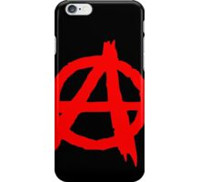 ANARCHY SYMBOL (RED ON BLACK) iPhone Case/Skin