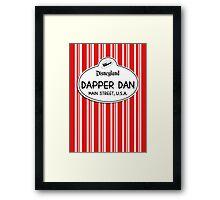 Dapper Dans Nametag - Red Framed Print