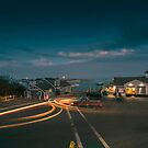 Night at Chatham Pier and Fish Market by capecodart