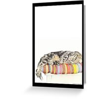 Relaxed Cat Greeting Card