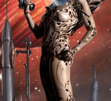 Retro Robot Painting 002 Sticker