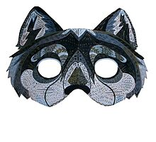 Upcycled Wolf Mask by apcomfort